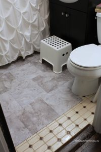 Bathroom Vinyl Tile Installation. easy glue down tile ...