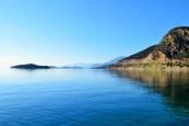 Blue blue waters of Patras, Greece
