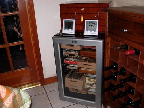 Andys Humidor Avanti Wine Cooler turned Humidor