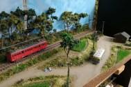 線路のある風景ジオラマ