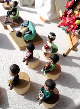 コルク粘土で作ったかわいい人形、ここは初出店とのこと