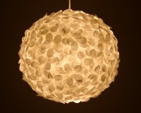 White Paper Flower Pendant Light | the 3 R's blog