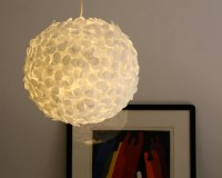 White Paper Flower Pendant Light | the 3 R's blog
