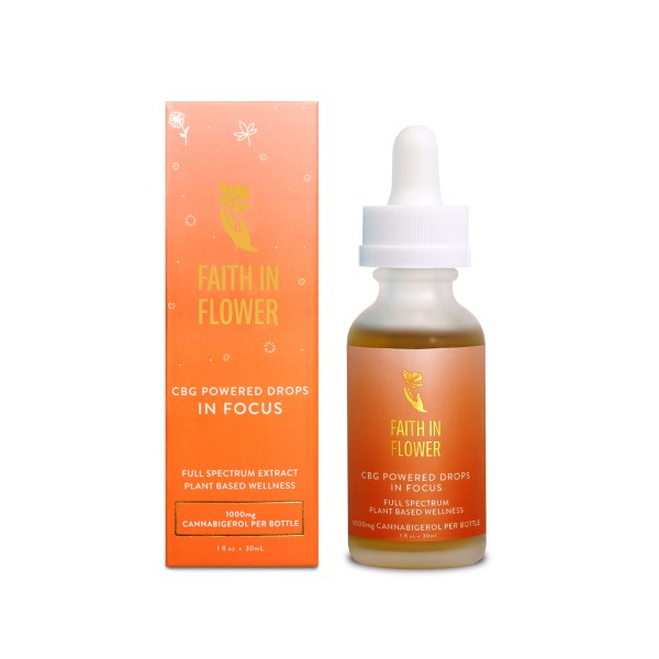 Faith In Flower In Focus CBG Drops 1000mg