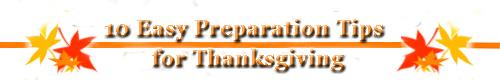 10 Easy Preparation Tips for Thanksgiving