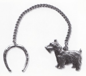 1940 Christmas gift from the President was a key chain depicting his beloved Scottish terrier, Fala.