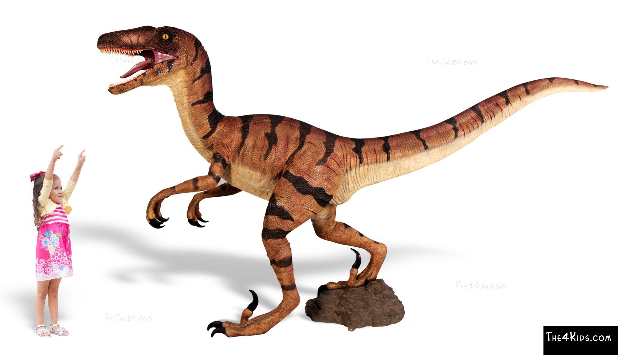 Velociraptor Sculpture - The 4 Kids