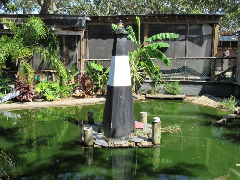 Pond lighthouse