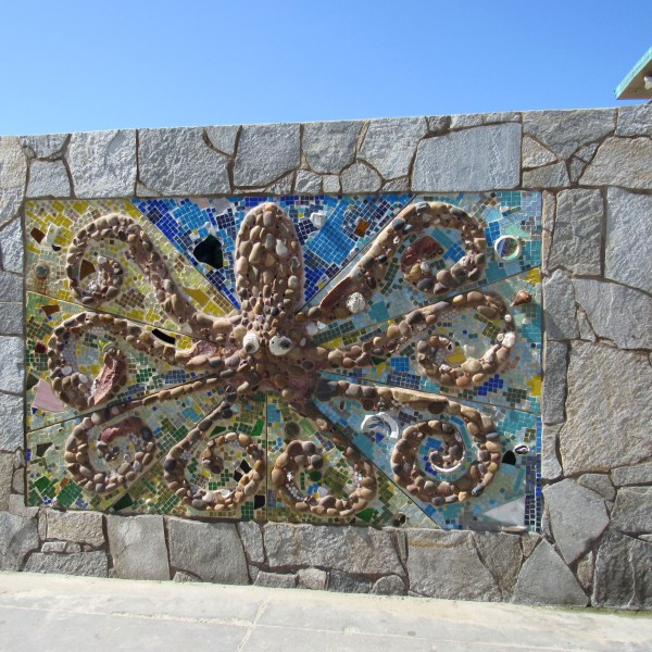 octopus stone artwork