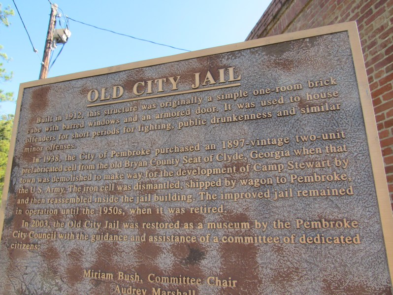 Old city jail marker