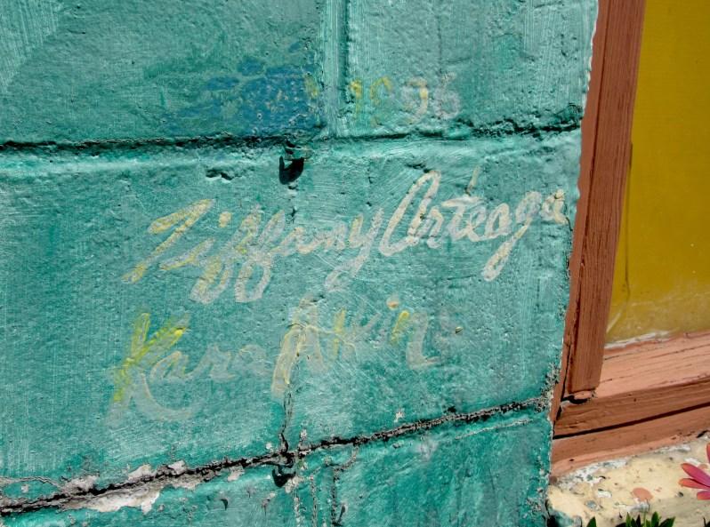 Artist signature on mural