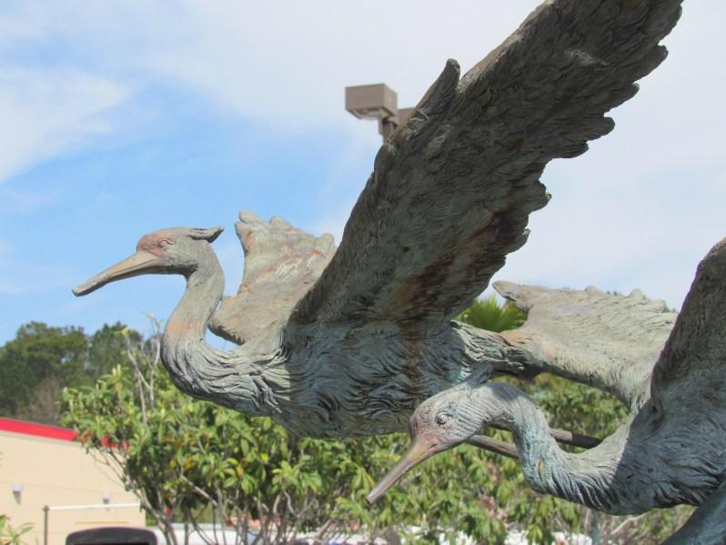 Blue Heron Sculpture