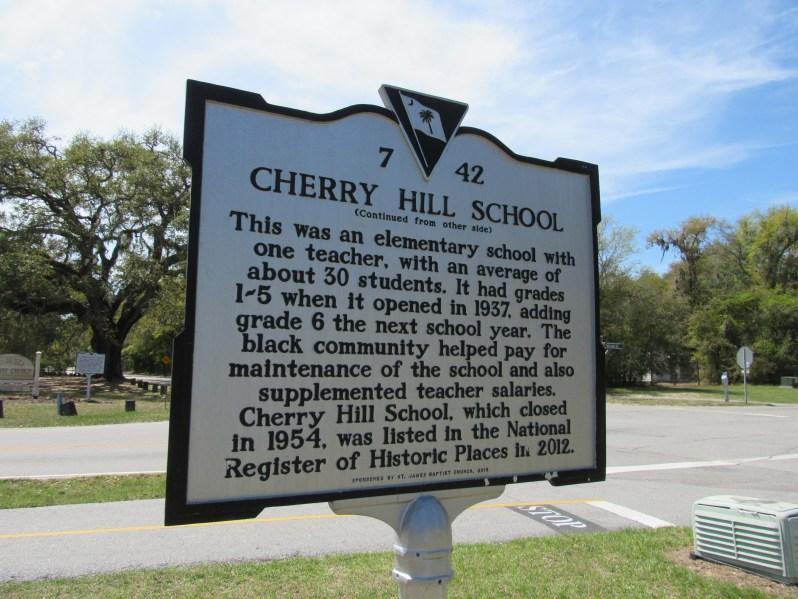 Cherry Hill School Historic Marker