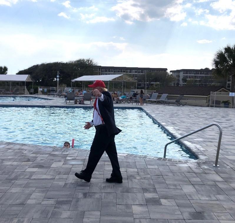 Trump at pool