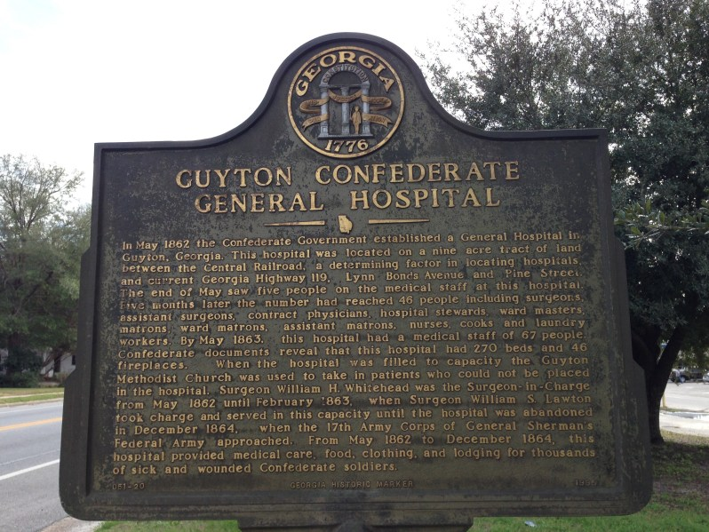 Confederate Hospital Marker