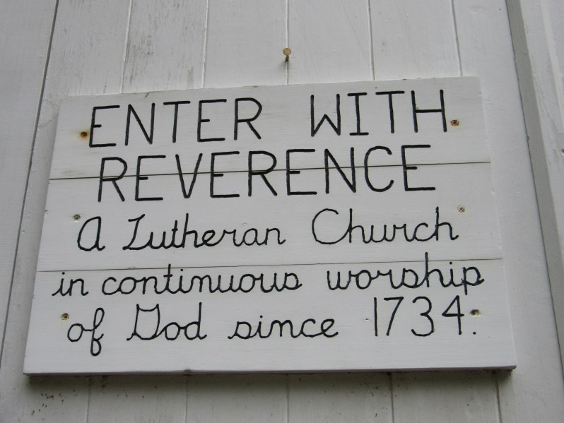 Enter with reverence