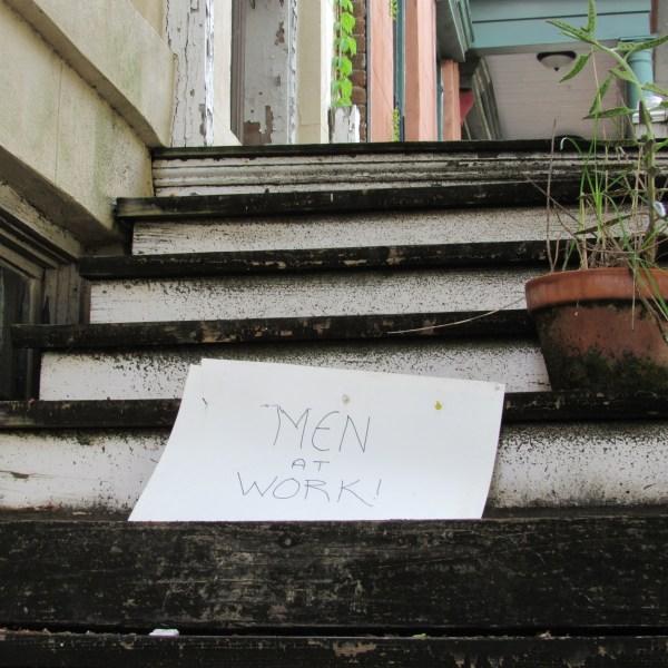Steps under repair
