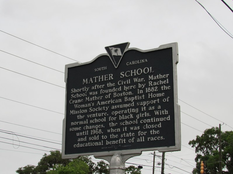 Historic Marker Mather School