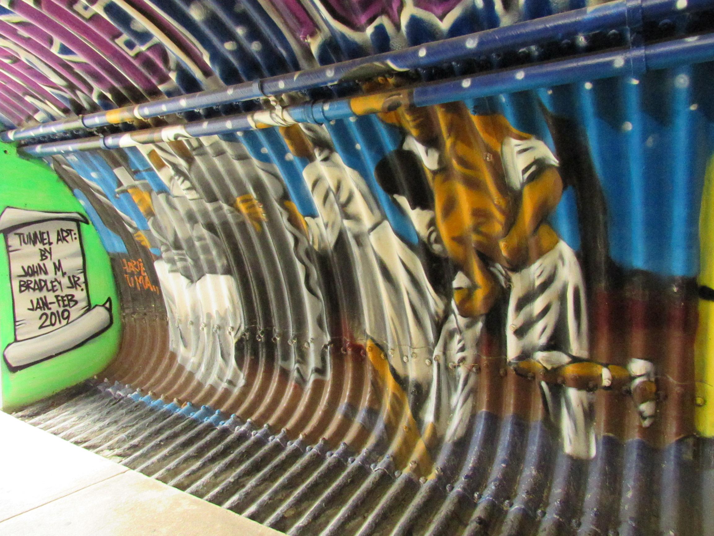 John Bradley tunnel art