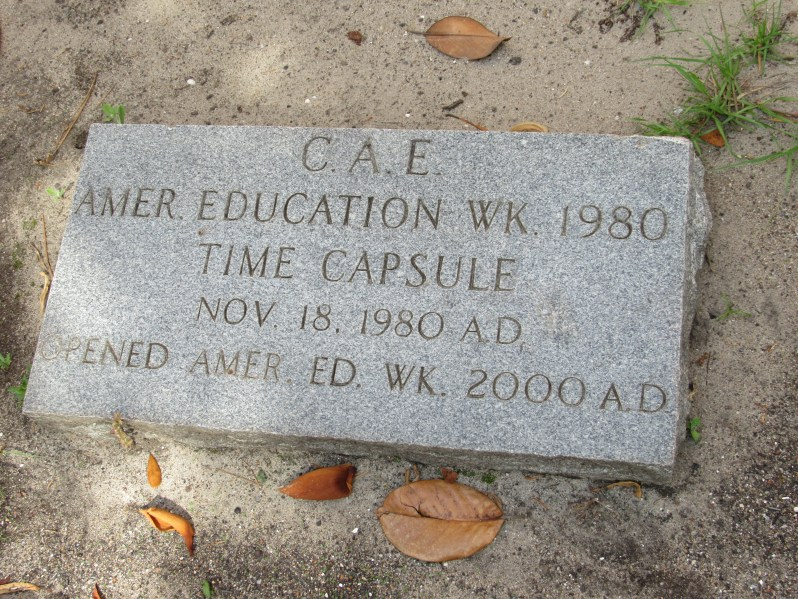 Time capsule marker