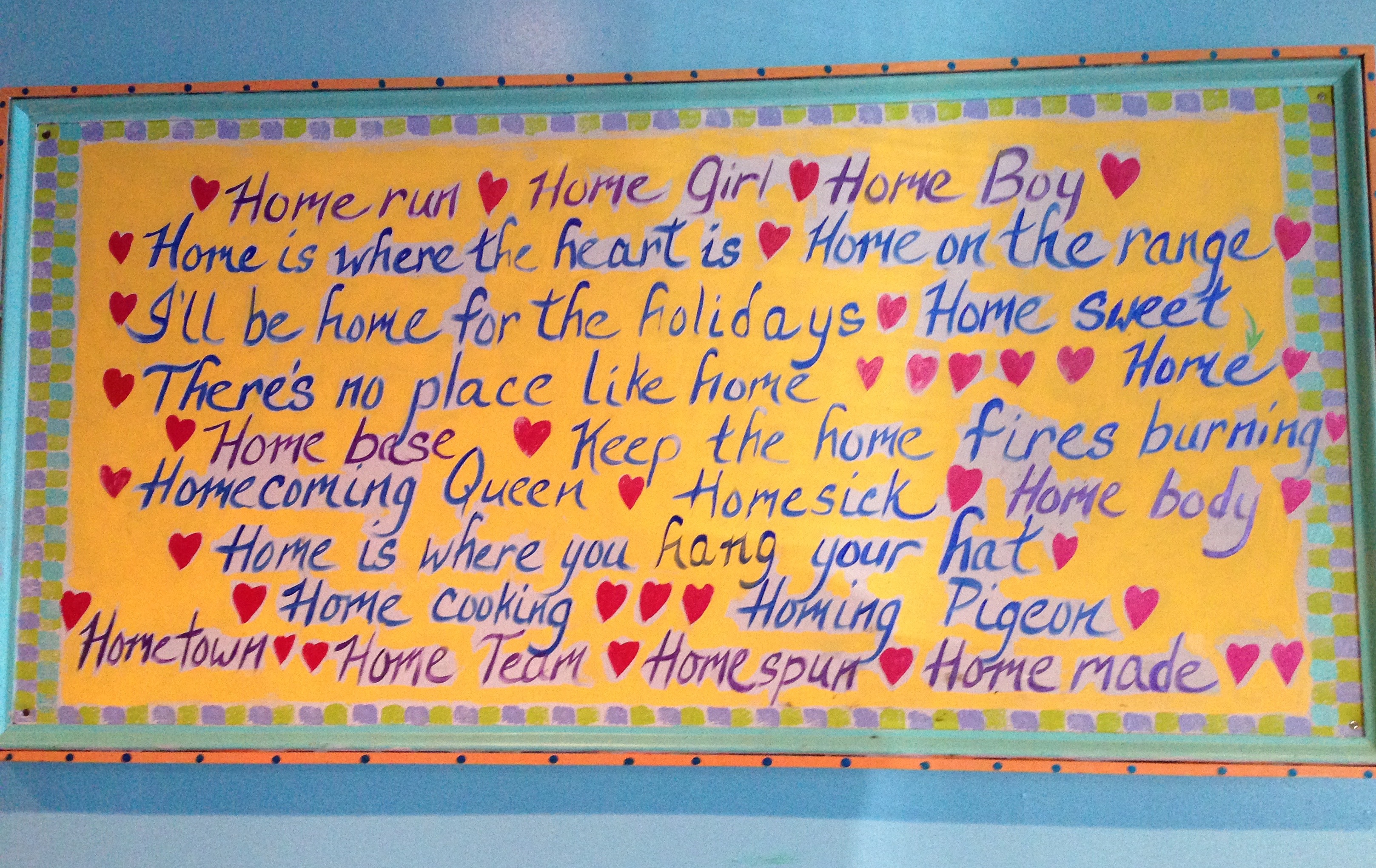 Home sayings