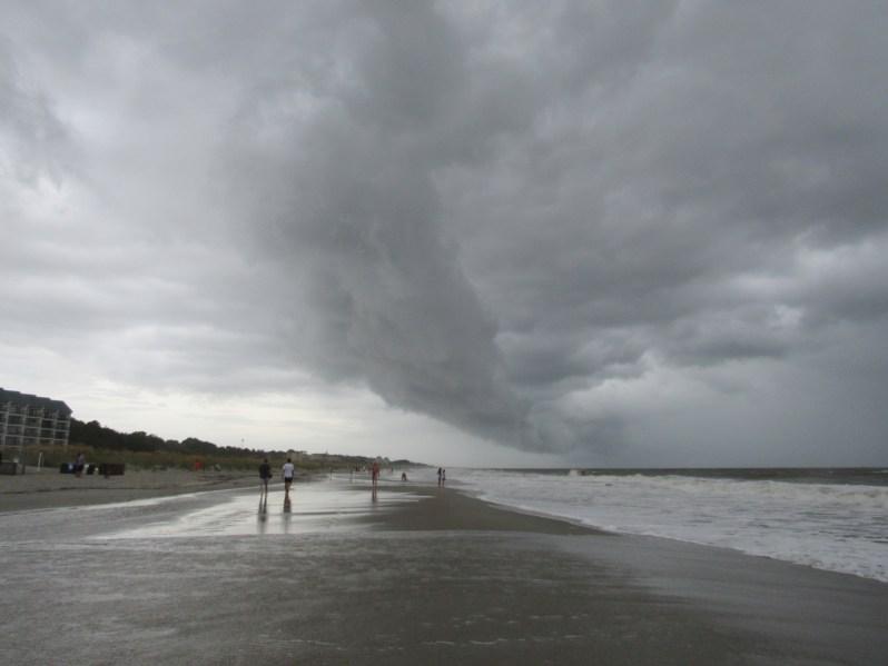 Tropical storm rain bands