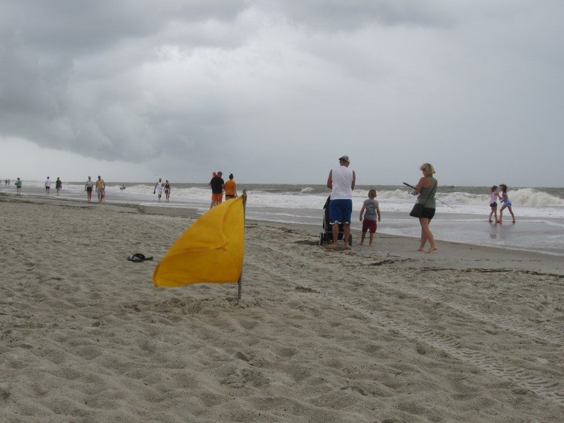 Yellow beach flag