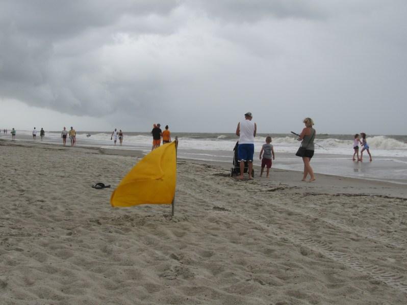 Yellow beach flag