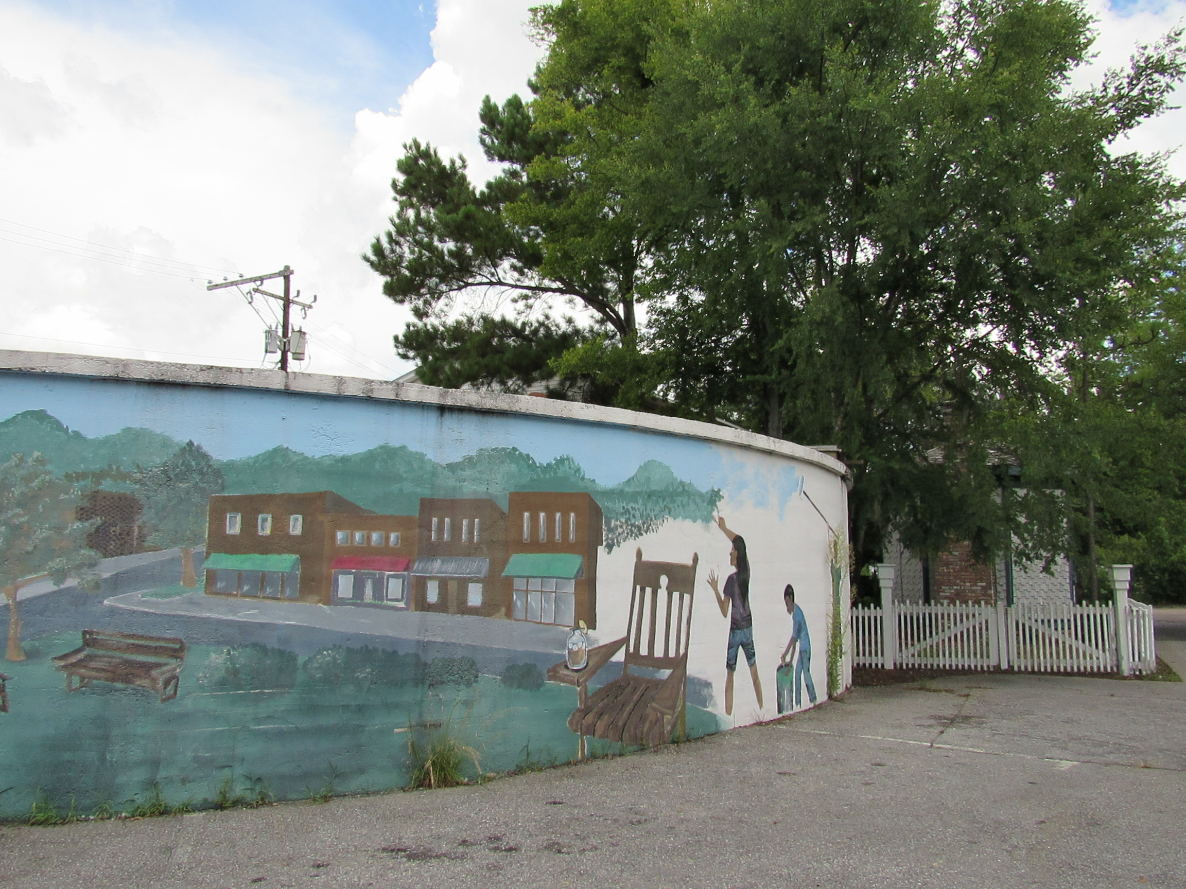 water tank mural