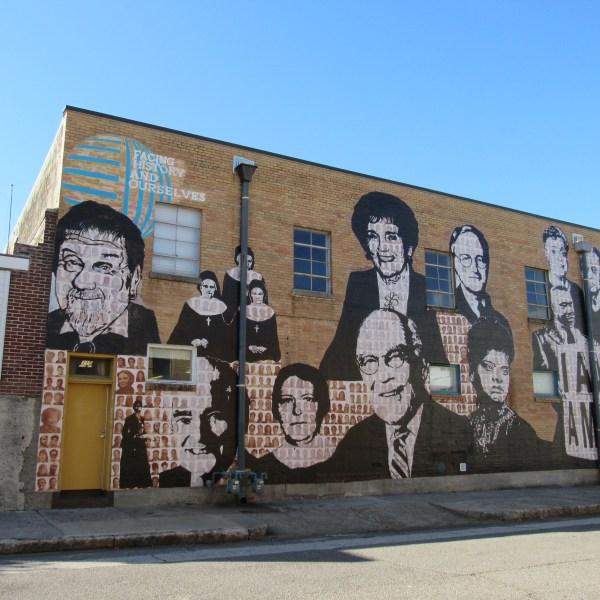 Facing history mural