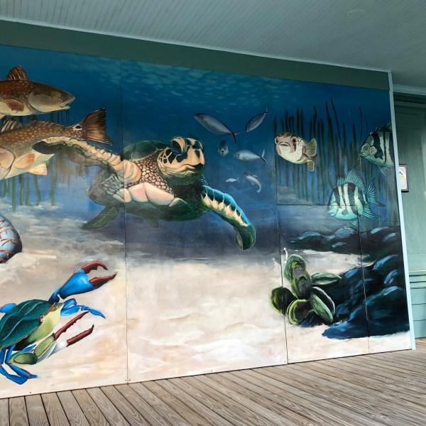 Under the sea mural art