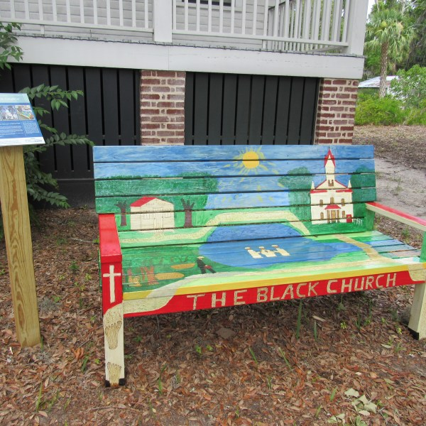 The Black Church Painted Bench