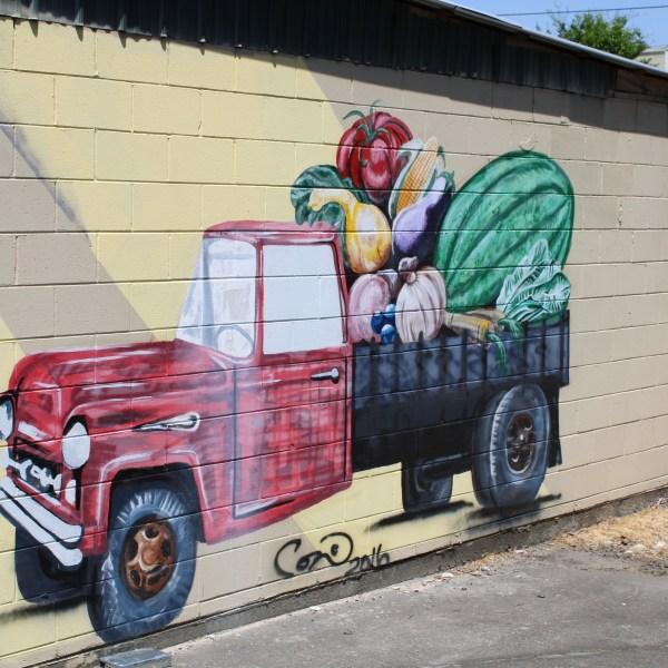 Farm truck mural