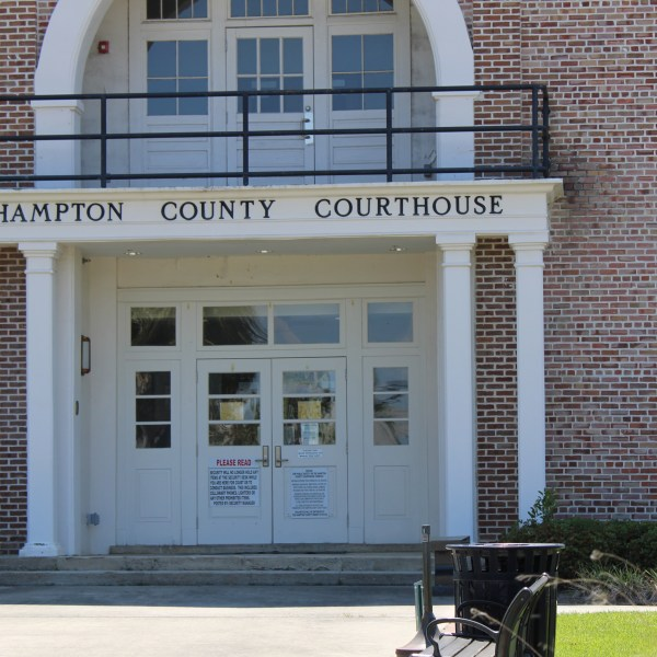 Front Doors of County courthouse