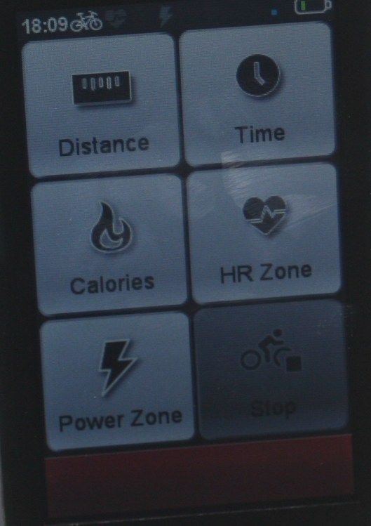 MIO Cyclo 505HC Workout Options