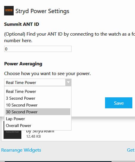 stryd-power-settings