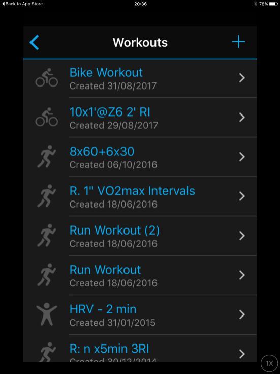 Garmin Connect Mobile Workout Creator