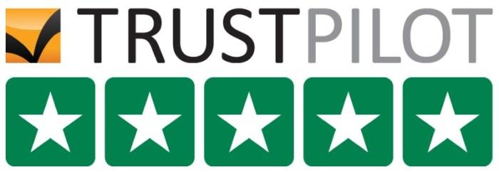 TRUSTPILOT power meter city 5 start logo rating