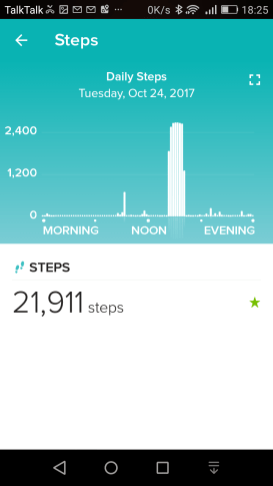 daily-steps-summary-ionic-fitbit app