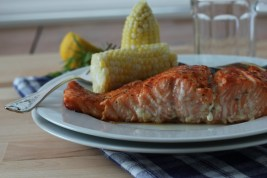 DSLR BBQ Salmon with Zucchini and Kent County Corn