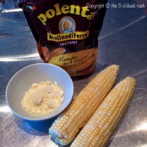 Quick Cook Polenta with Fresh Corn and cheese
