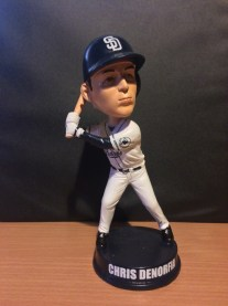 """One of the """"abandoned"""" Chris Denorfia Padres bobbleheads from 2014."""