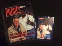 Ted Williams & Tony Gwynn Padre Magazine and postcard.