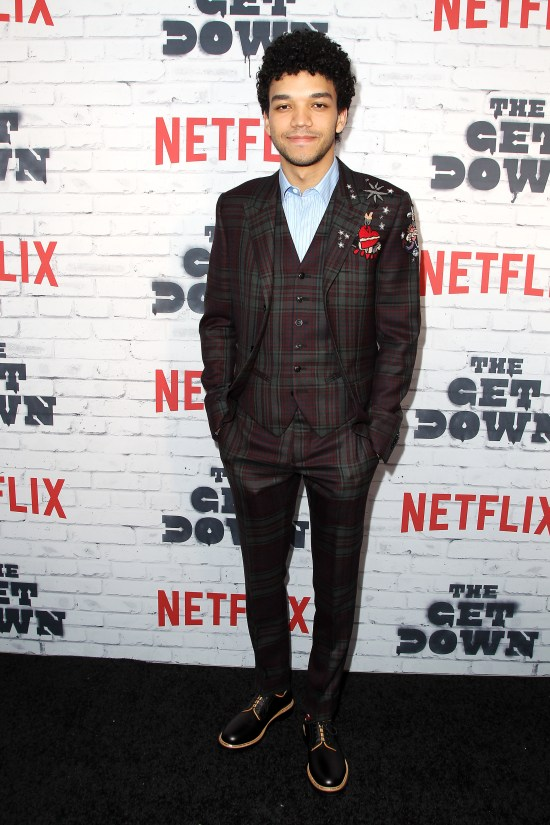 """- New York, NY - 4/5/17 - Netflix New York Kickoff Party for Part Two of """"The Get Down"""" -Pictured: Justice Smith -Photo by: Patrick Lewis/Starpix -Location: Irving Plaza"""