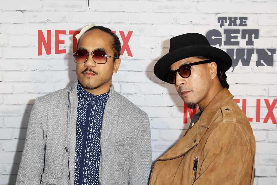 "- New York, NY - 4/5/17 - Netflix New York Kickoff Party for Part Two of ""The Get Down"" -Pictured: Tone Talauega, Rich Talauega -Photo by: Patrick Lewis/Starpix -Location: Irving Plaza"