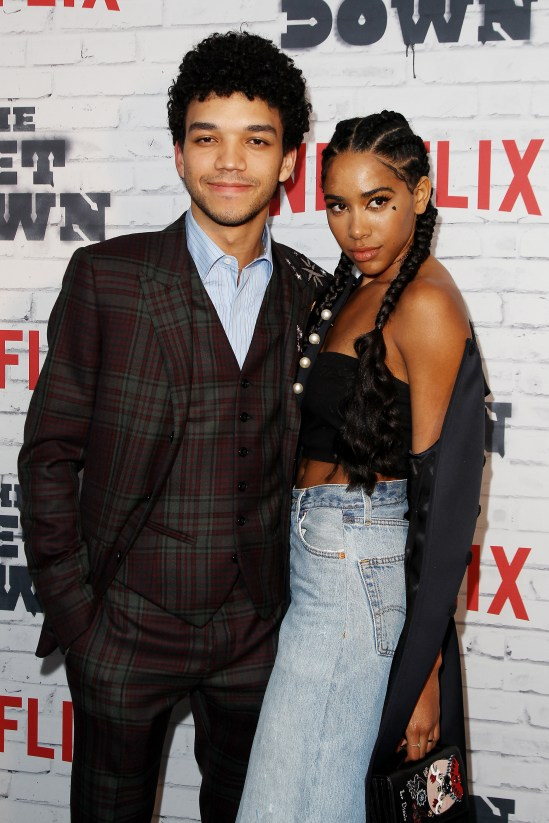 """- New York, NY - 4/5/17 - Netflix New York Kickoff Party for Part Two of """"The Get Down"""" -Pictured: Justice Smith, Herizen Guardiola -Photo by: Patrick Lewis/Starpix -Location: Irving Plaza"""
