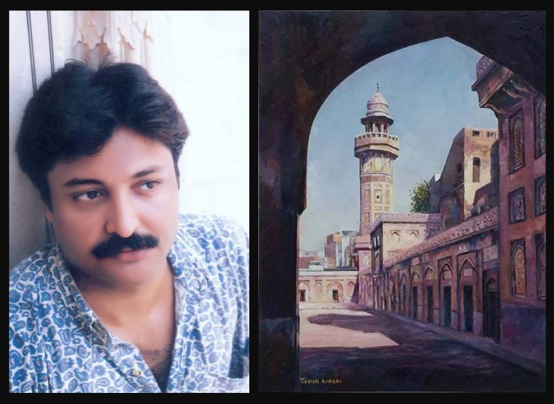Tahir Naqvi painting at Oyster Art Gallery