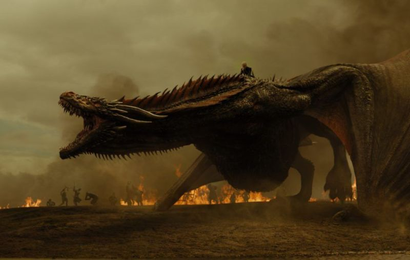 Daenerys Targaryen becomes mad like her father as she destroys the Kings Landing.