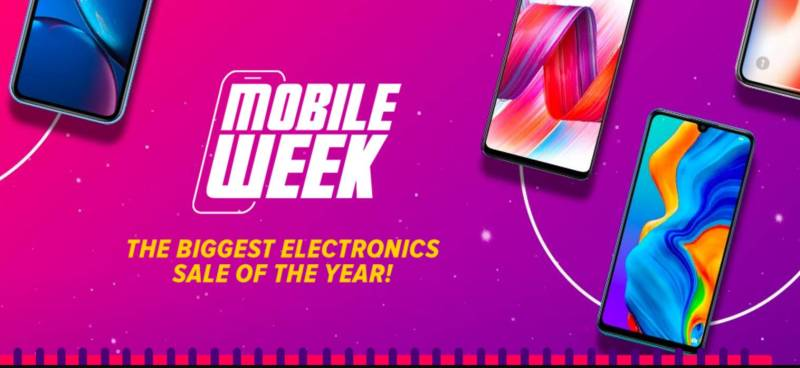Daraz brings the biggest electronics sale of the year on Mobile Week.