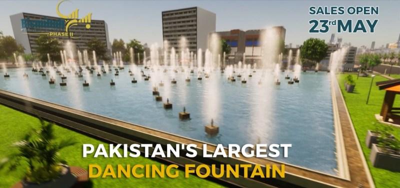 Dancing Fountain at Bismillah Housing Phase II.